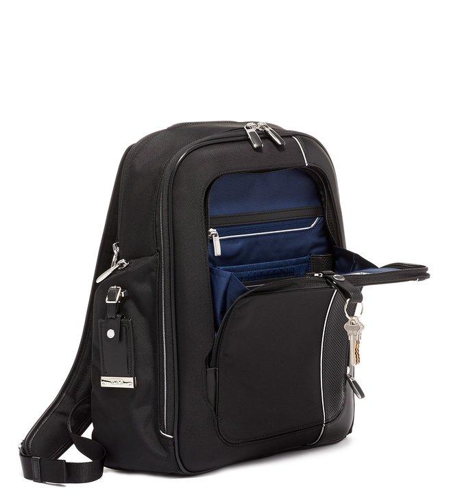 f4af5af8c841 Buy Tumi Black Arrive Medium Top Handle Larson Laptop Backpack ...
