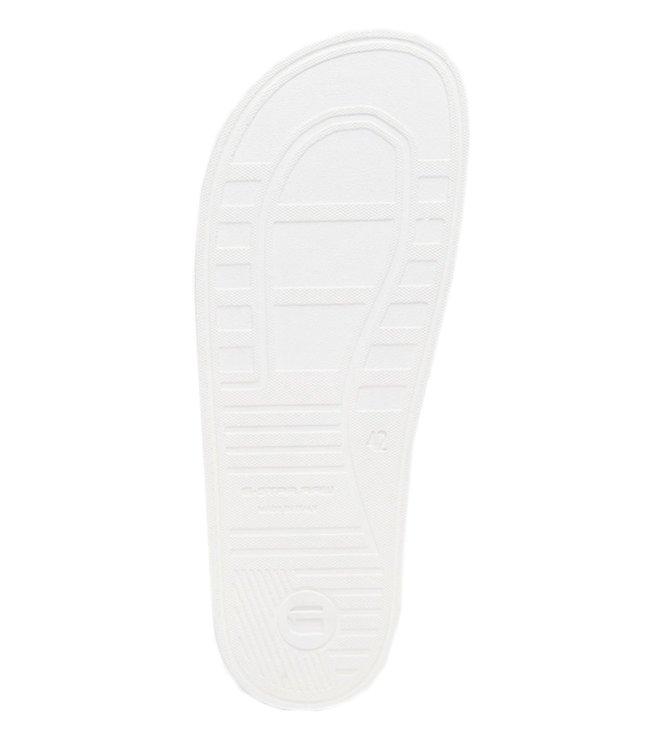 cff2d79e5bfa Buy G-Star RAW White Logo Cart Ii Men Slides for Men Online   Tata ...
