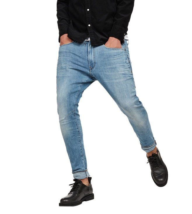 a1ae8ca36313 G-Star RAW. G-Star RAW Light Indigo Aged D-Staq 3D Slim Fit Jeans ...