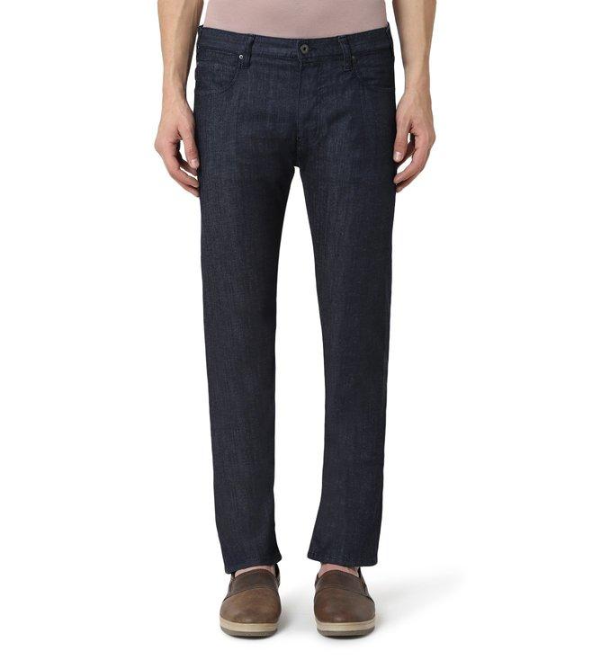 40da4ac792 Buy Emporio Armani Denim Blu Regular Fit Jeans for Men Online @ Tata ...