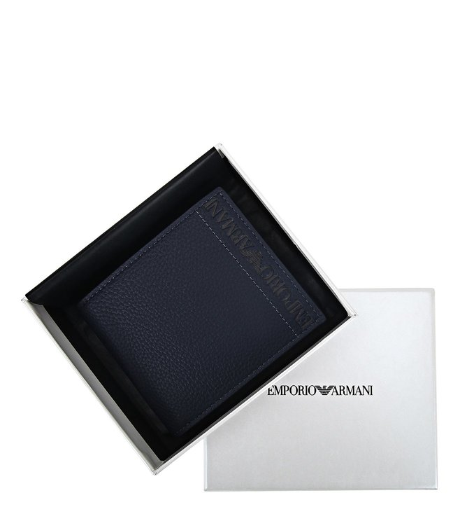 44be7d15 Buy Emporio Armani Blu Indigo Medium Bi-Fold Wallet for Men Online ...