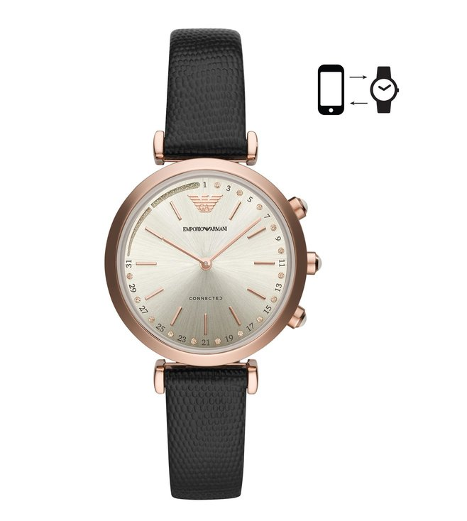 Emporio Armani ART3027 Beige Gianni T-Bar Smart Watch For Women