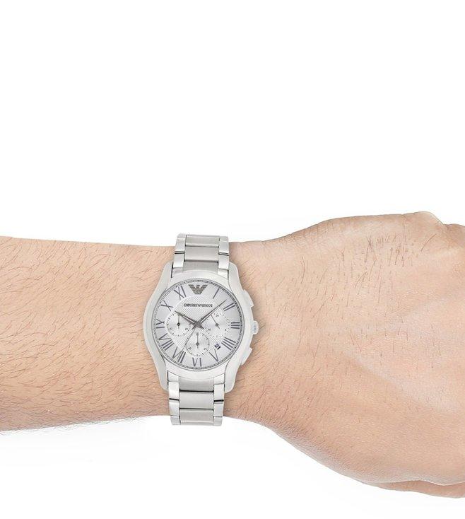 Emporio Men Armani Watch For Buy Silver Valente Ar11081 vNm80wn