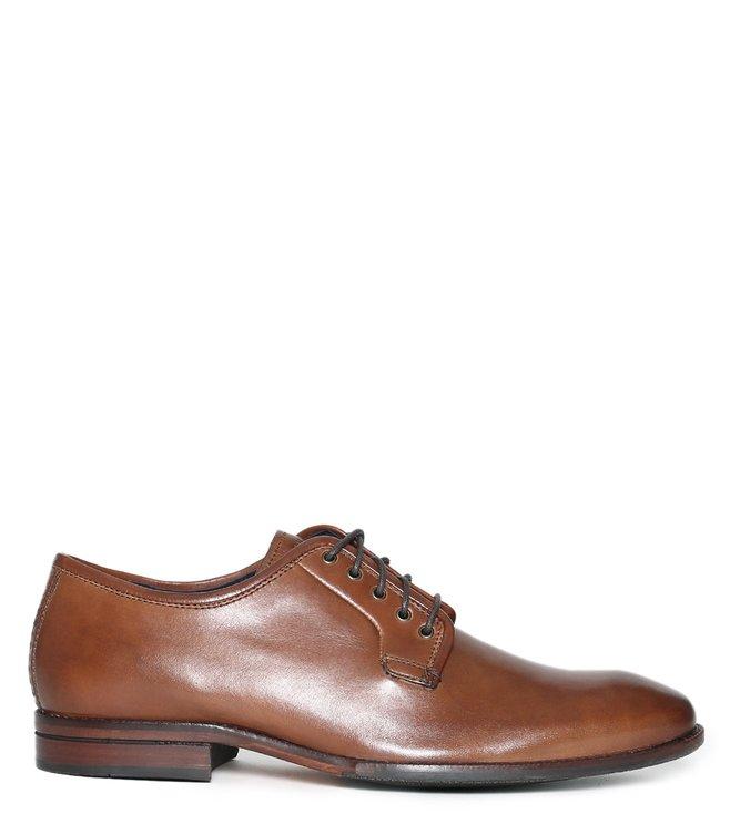 60834b5155 Buy Cole Haan Tan Warner Grand Postman Derby Shoes for Men Online @ Tata  CLiQ Luxury
