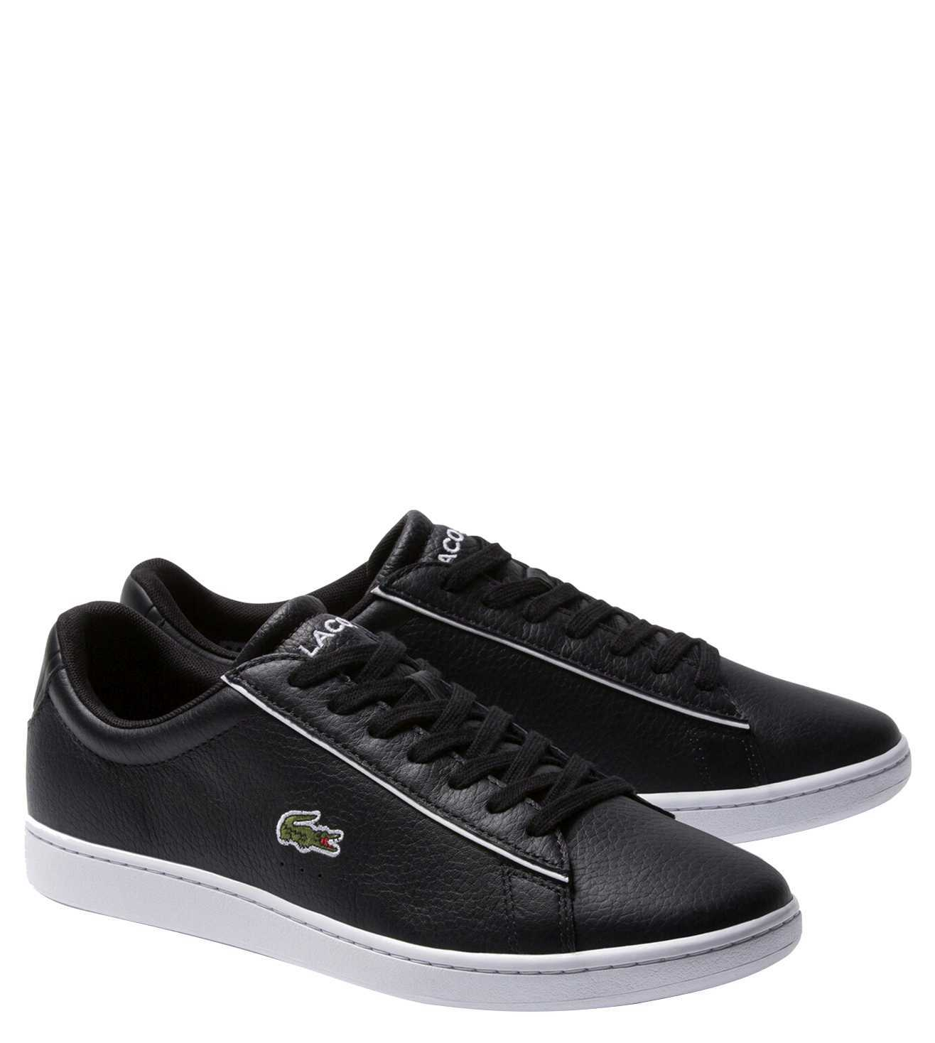 Buy Lacoste Black Carnaby Evo Tumbled