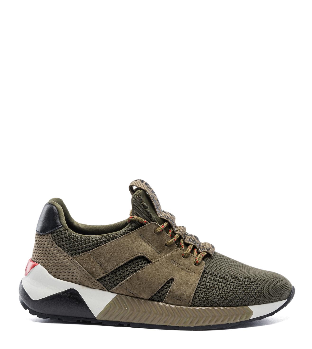 Buy Replay Melange Green Men Sneakers