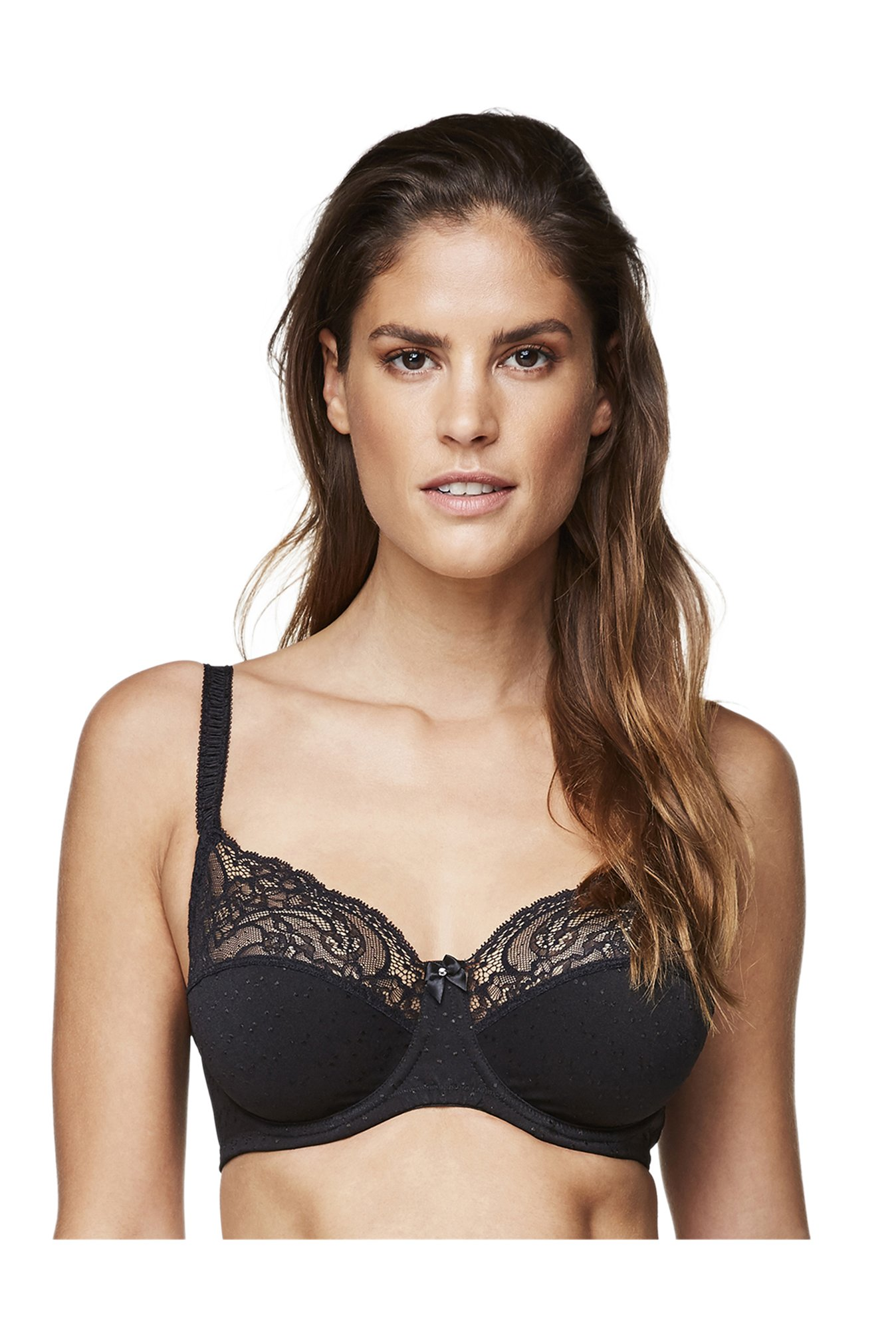 Hunkemoller Black Under Wired Sophie Balconette Bra