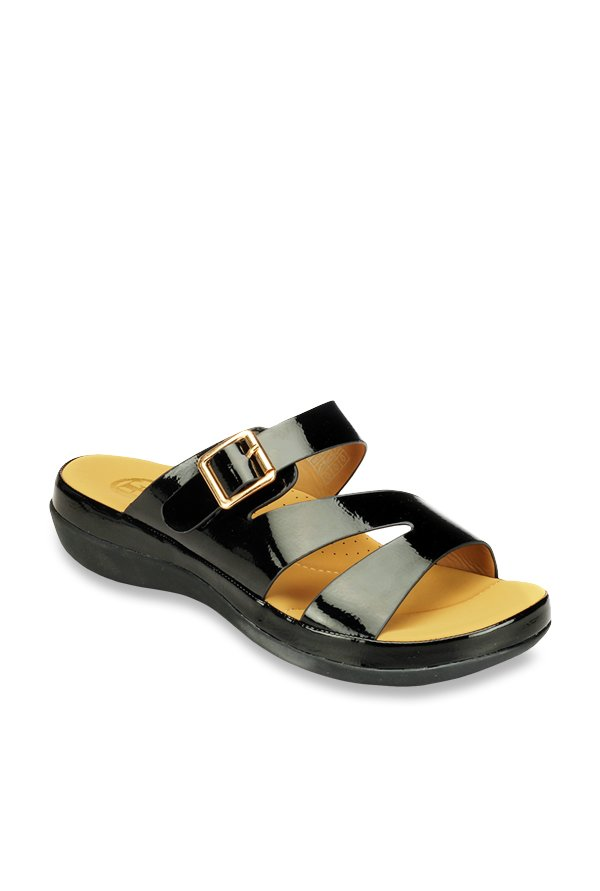 accf441e24ba Buy Pavers England Black Casual Sandals for Women at Best Price   Tata CLiQ
