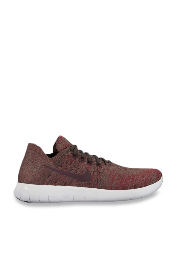 e1e491f1ab93 Buy Nike Free RN Flyknit 2017 Brown Running Shoes for Men at Best Price   Tata  CLiQ