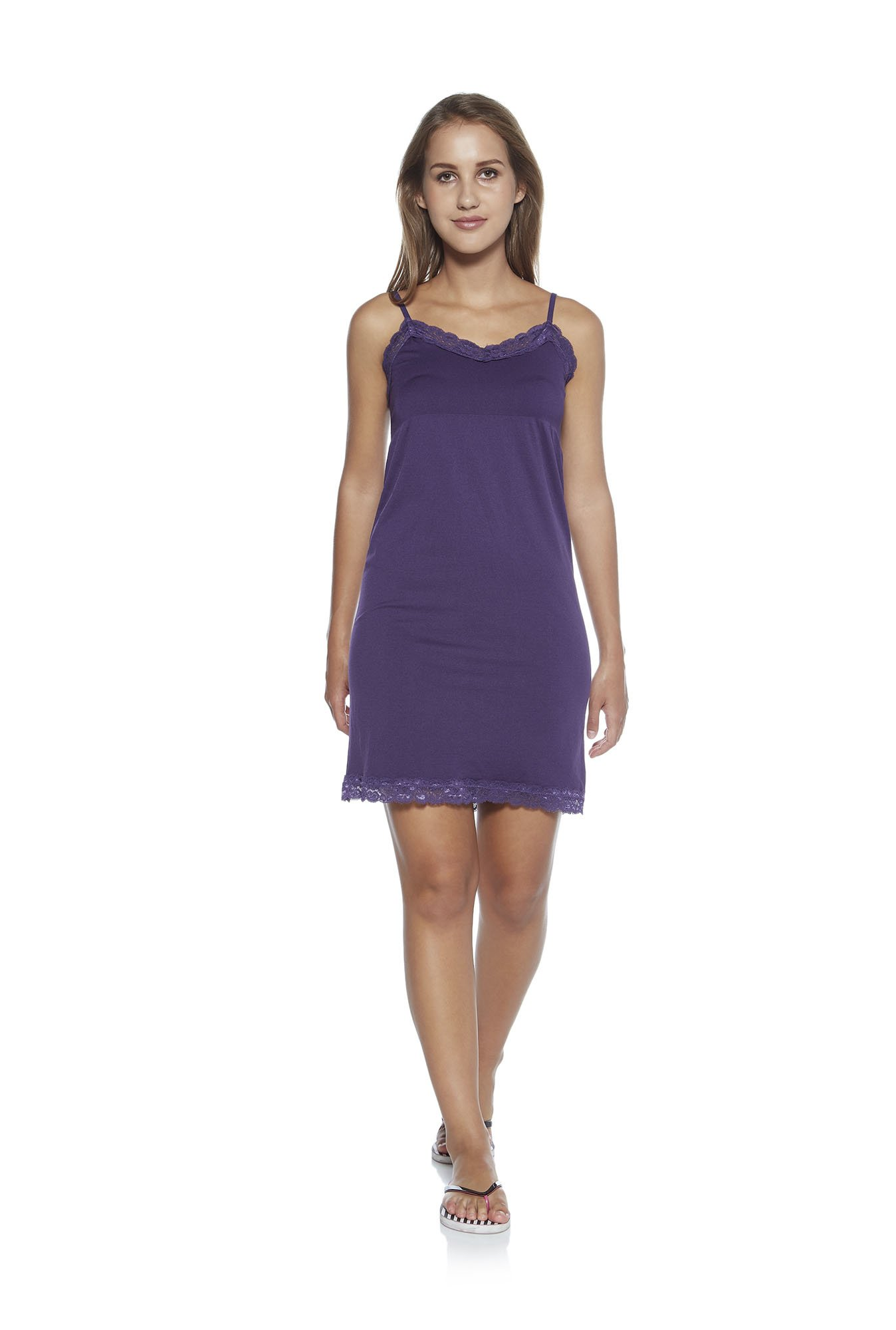 f57ae50539 Buy Wunderlove by Westside Purple Lace Detail Chemise for Women ...