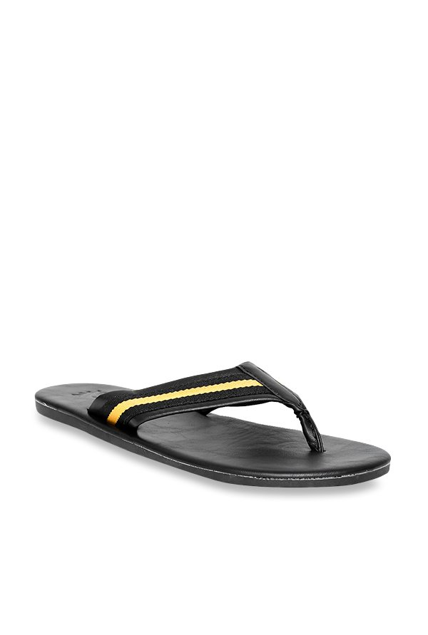 a4c7277c3eaf7 Buy United Colors of Benetton Black   Yellow Flip Flops for Men at Best  Price   Tata CLiQ