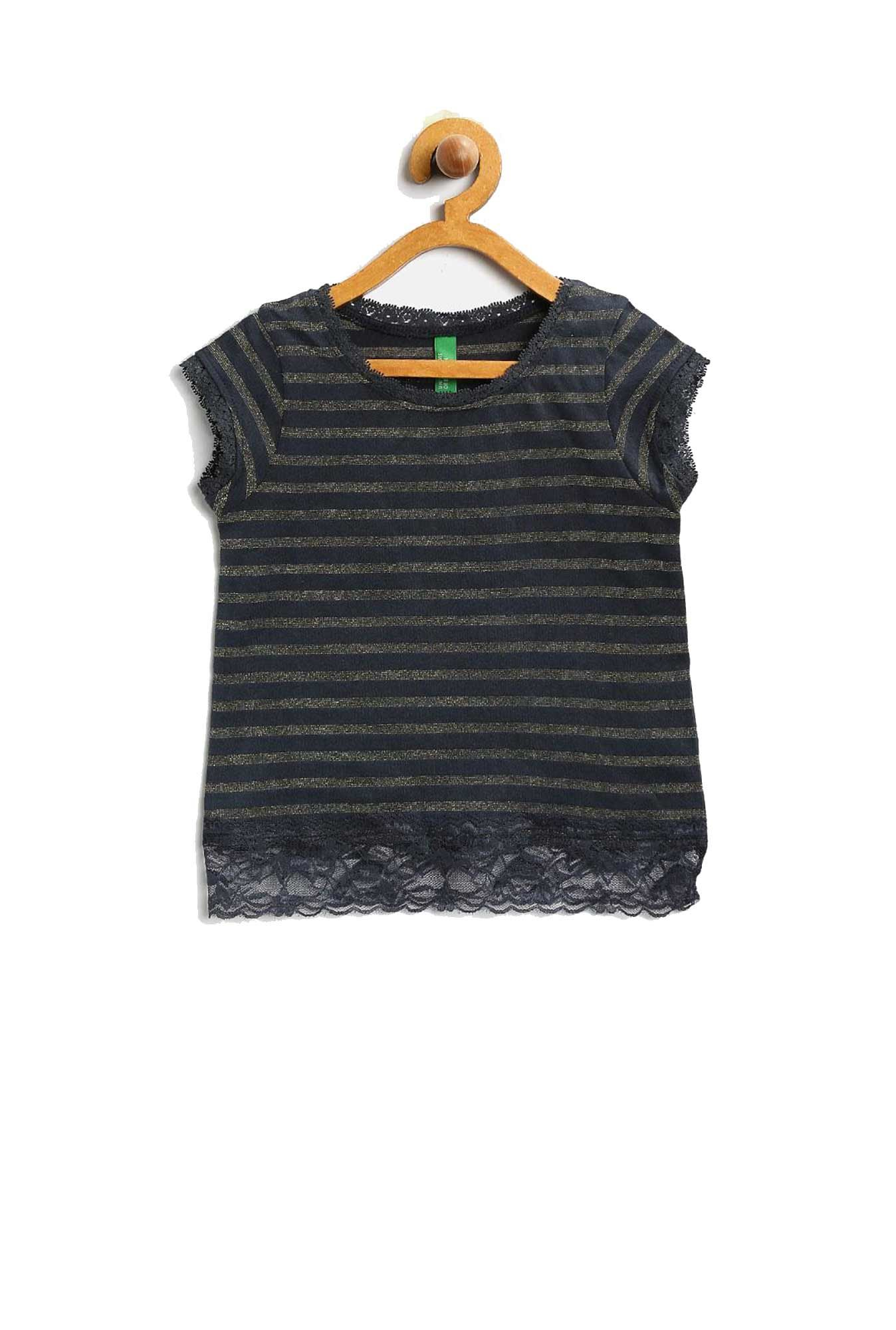 8da80150bd Buy United Colors of Benetton Kids Navy Striped T-Shirt for Girls Clothings  Online @ Tata CLiQ