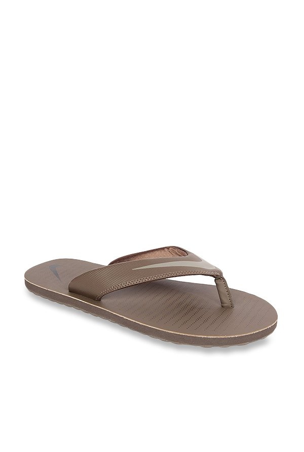 6635d92ae Buy Nike Chroma 5 Brown Flip Flops for Men at Best Price   Tata CLiQ