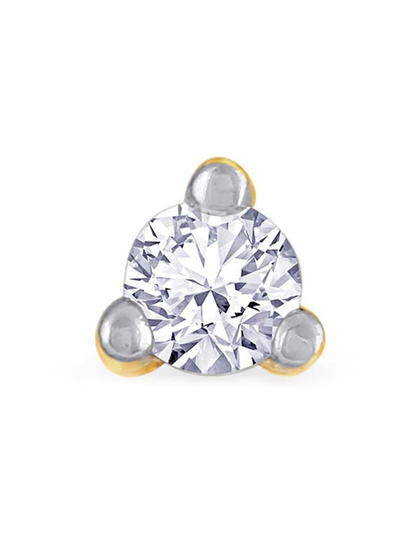Buy Malabar Gold And Diamonds 18 Kt Gold Diamond Nosepin Online