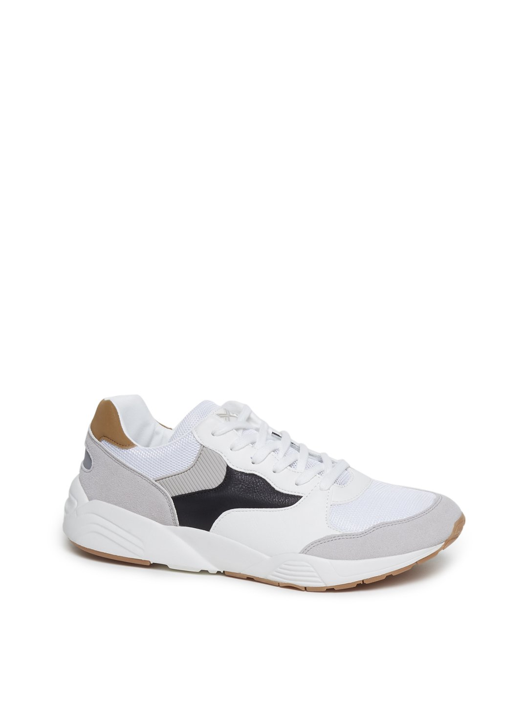 Westside White Faux-Leather Sneakers