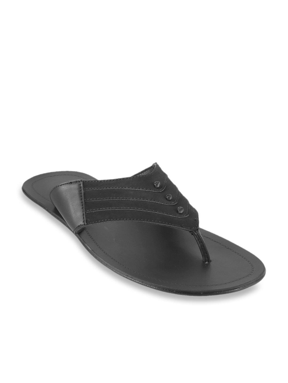 Buy Mochi Black Thong Sandals for Men
