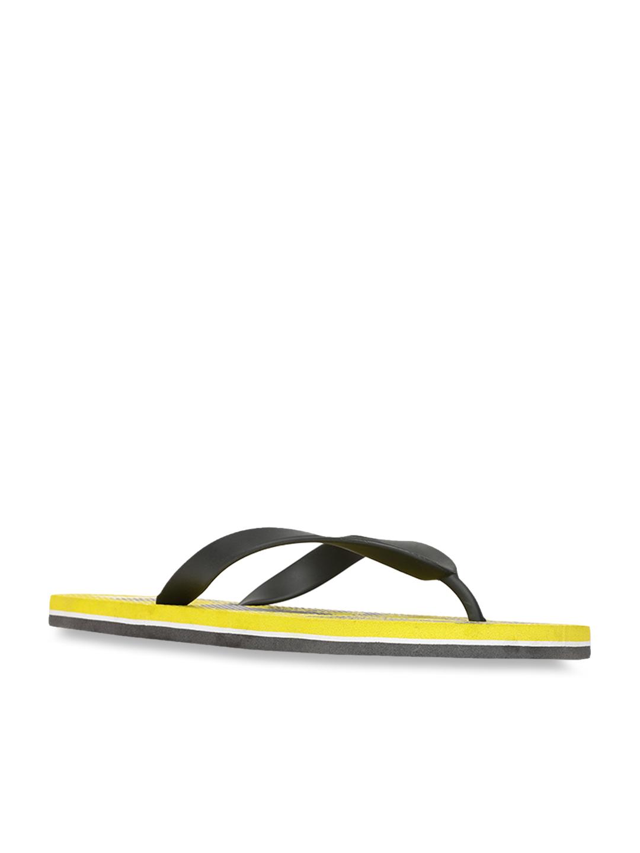 Bata Black \u0026 Yellow Flip Flops
