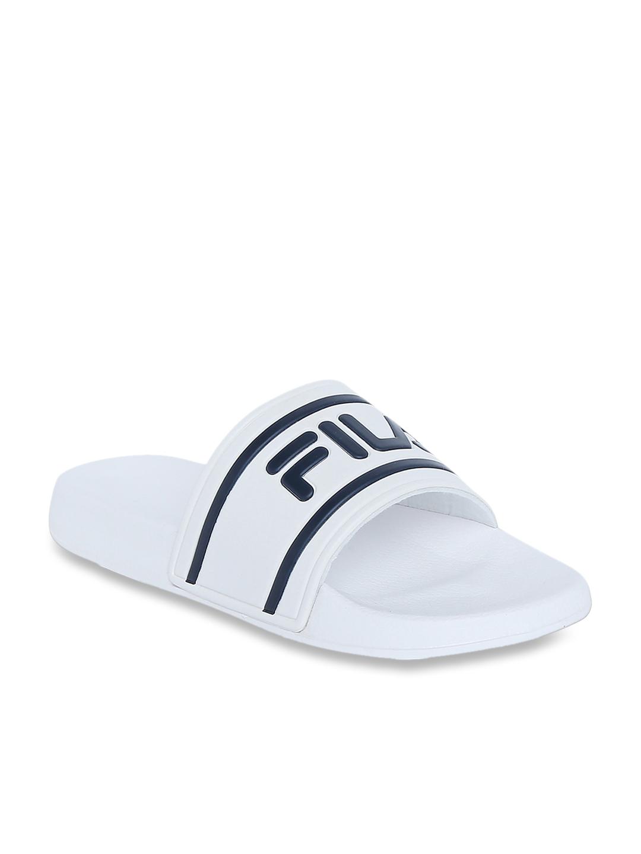 all white fila sandals