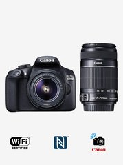 Canon EOS 1300D  EF S18 55m/S55 250mm IS II Lens  DSLR Camera with 16 GB Card and Carry Case  Black  Canon Electronics TATA CLIQ