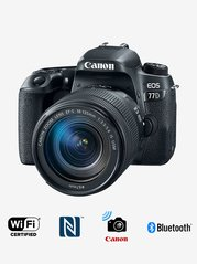 Canon EOS 77D (EF-S18-135mm f/3.5-5.6 IS USM Lens) DSLR Camera with 16GB Card and Carry Case (Black)