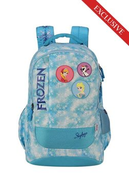 cd7d3d54033 Skybags SB Frozen 02 Sky Blue Applique Polyester Backpack