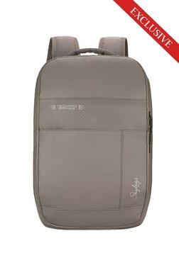 7507f5ffa56c Skybags Zylus 02 Beige Striped Polyester Laptop Backpack