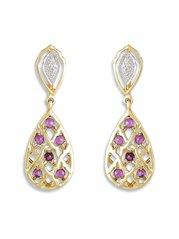Mia By Tanishq 14 kt Gold & 0.09 ct Diamond Earrings