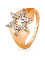 Mia by Tanishq Star 14 kt Gold Ring