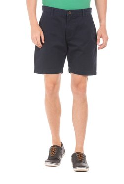 Aeropostale Navy Mid Rise Cotton Chino Shorts