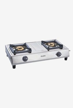 Glen LPG Stove 1021 SS 2 Burner Gas Cooktop (Steel)
