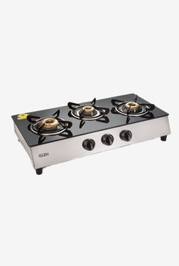 Glen 1035 GT Retro 3 Burner Gas Cooktop (Black)