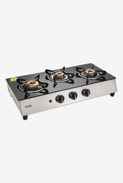 Glen 1035 GT Retro AI 3 Burner Gas Cooktop (Black)