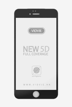Vidvie GLPL1307 Clear Tempered Glass for Apple iPhone 7,8 with Easy Installation Kit (Black)