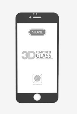 Vidvie GLPL1306 Clear Tempered Glass for Apple iPhone 6, 6s Plus with Easy Installation Kit (Black)