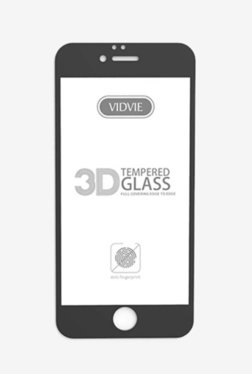 Vidvie GLPL1306 Clear Tempered Glass for Apple iPhone 7, 8 with Easy Installation Kit (Black)