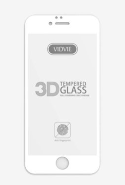 Vidvie GLPL1306 Clear Tempered Glass for Apple iPhone 7, 8 with Easy Installation Kit (White)