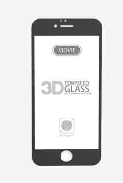 Vidvie GLPL1306 Clear Tempered Glass for Apple iPhone 6 Plus, 6s Plus with Installation Kit (Black)