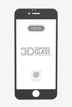 Vidvie GLPL1306 Clear Tempered Glass for Apple iPhone 7 Plus, 8 Plus with Installation Kit (Black)