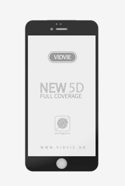 Vidvie GLPL1307 Clear Tempered Glass for Apple iPhone 6,6s with Easy Installation Kit (Black)