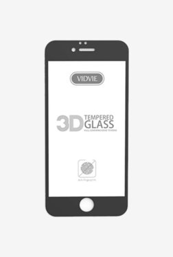 Vidvie GLPL1306 Clear Tempered Glass for Apple iPhone X with Easy Installation Kit (Black)