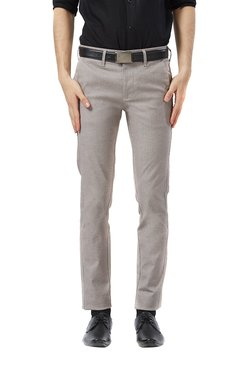 Killer Grey Mid Rise Flat Front Printed Trousers