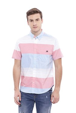Aeropostale Pink Button Down Collar Cotton Shirt