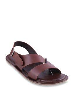 Mochi Dark Tan Back Strap Sandals