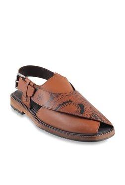 Da Vinchi By Metro Dark Tan Back Strap Sandals