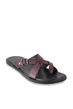 2aa3478df Mochi Maroon Cross Strap Sandals