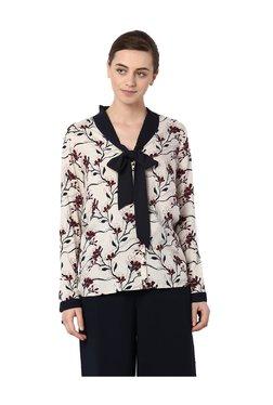 Van Heusen Beige Floral Print Shirt