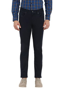Red Tape Navy Slim Fit Mid Rise Chinos