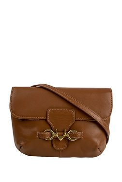 Hidesign Melissa W2 Brown Solid Leather Flap Sling Bag