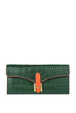 Hidesign Ee Harper W1 Green Textured Leather Bi-Fold Wallet