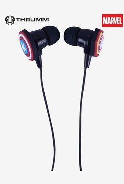 Thrumm Buster Captain America +Iron Man Earphones With Mic (Black)